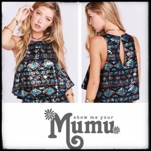NWT ** Show Me Your Mumu Squin Crop Tank